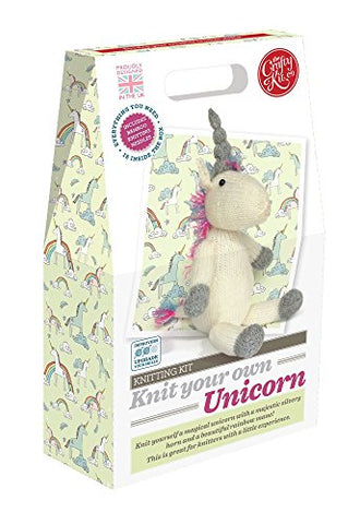 The Crafty Kit Company Knitting Kit Knit your own Unicorn