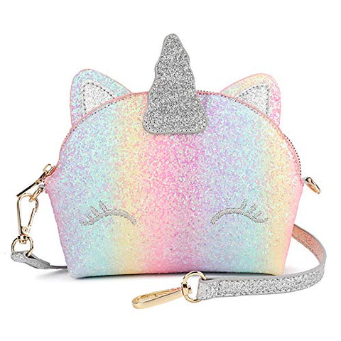 Cute Rainbow Unicorn Crossbody Bag | Handbag | For Girls
