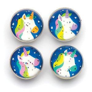 Rainbow Unicorn Glitter Jet Bouncy Balls (Pack of 8)