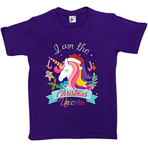 I Am The Christmas Unicorn | Kids T-Shirt | Purple