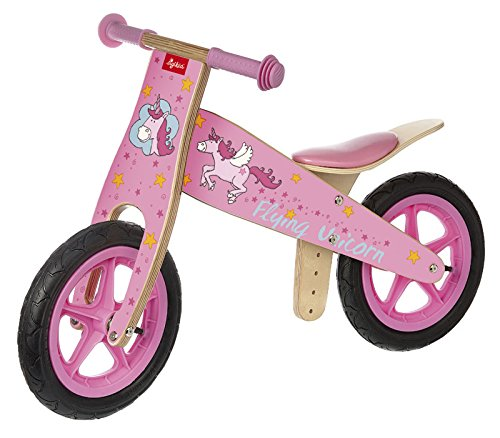 Cute Unicorn wooden learner balance bike for 2-6 year olds