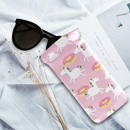 Donuts unicorns glasses case