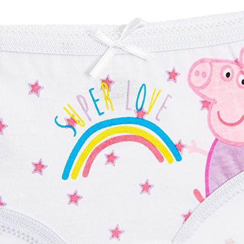 Peppa Pig Underwear Girls Pack of 5 Magical Unicorn 4-11 Years Old