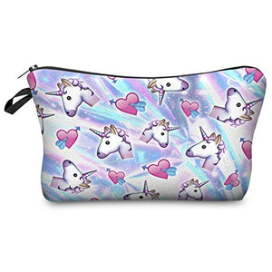 Emoji Unicorn Make Up Bag, Toiletry Bag, Pencil Case