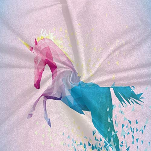 Rainbow Unicorn Windproof UV Protection Face Mask Bandanas Head Scarf Washable