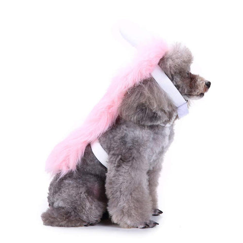 Pink Unicorn Dog Costume with Hood and Horn