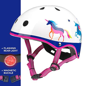 Micro Children's Deluxe Helmet Unicorn Medium 53-57Cm Girls Scooting Bike
