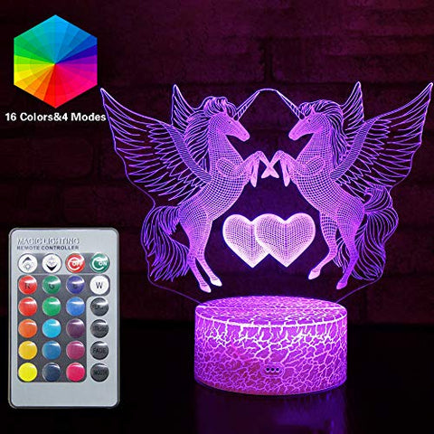 Unicorn Lamp 3D 16 Colour Changing