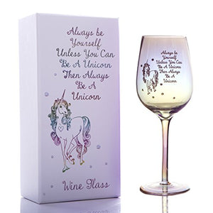 Unicorn Quote Engraved Wine Glass | Gift Box