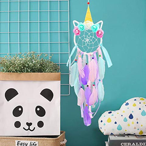 unicorn dream catcher colourful