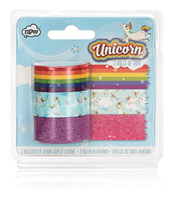 NPW Decorative Novelty Sticky Tape Set - Pack of 3 Unicorn Tapes