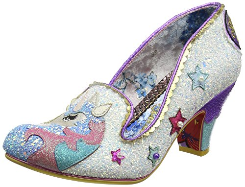 Irregular Choice Women's Little Misty Closed-Toe Heels, White (White), 6 UK 39 EU
