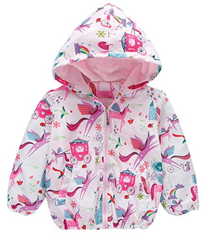 Unicorn Windbreaker Lightweight Jacket | Girls | Various Ages