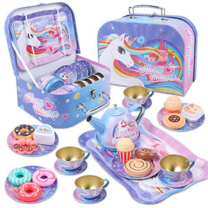 Happy Unicorn Pretend Tea Set