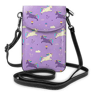 Lilac Unicorn Pattern Sunglasses Soft Case Ultra Light With Key Chain