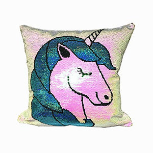 Unicorn Reversible Colours Sequin Cushion Cover(40 * 40cm )