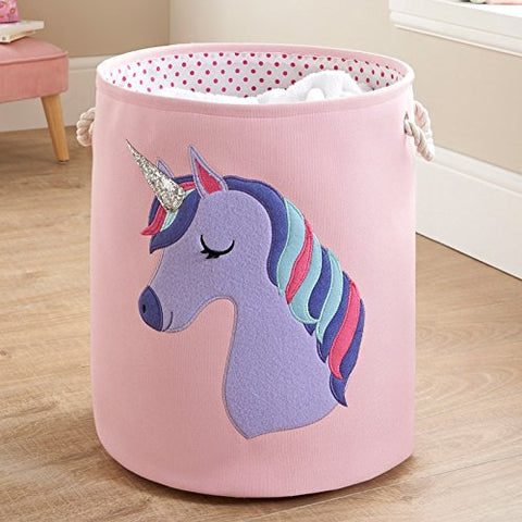 Unicorn Washing Basket Pink, Purple