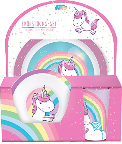 Unicorn eating set rainbows