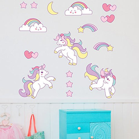 Cute unicorns wall art sticker