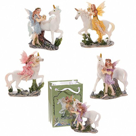 Flower Fairy & Unicorn Ornaments | Resin | Gift Idea | Garden