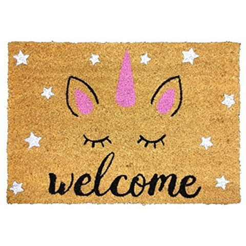 Sparkle Unicorn Coir Doormat | 40 x 60cm | Indoor & Outdoor Use