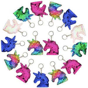 Unicorn Party Bag Fillers | Sequin Unicorn Key Rings