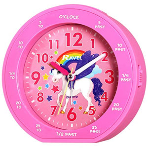 Children's Unicorn Time Teacher Pink Alarm Clock