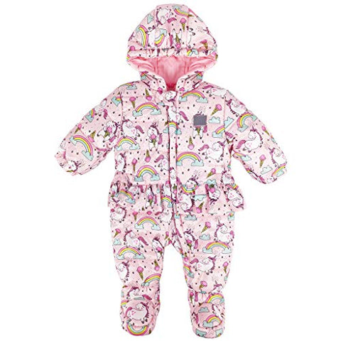 Baby Girls Unicorn Snowsuit | Romper Coat | Jumpsuit | 12-18 Months