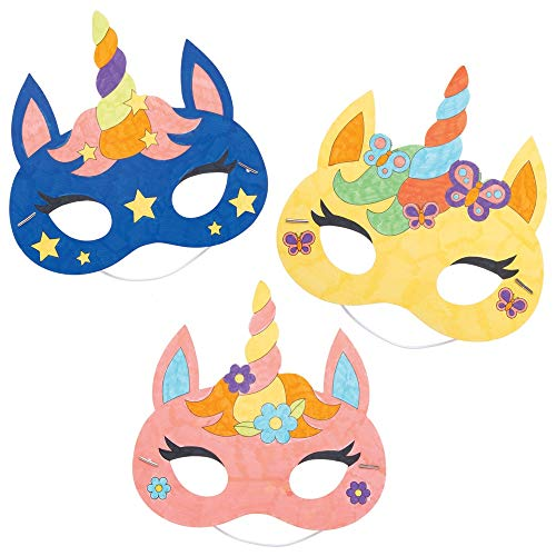 Unicorn DIY Colour in masks