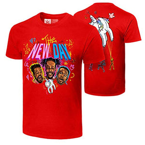 WWE | The New Day Unicorn Balloon Authentic T-Shirt | Red