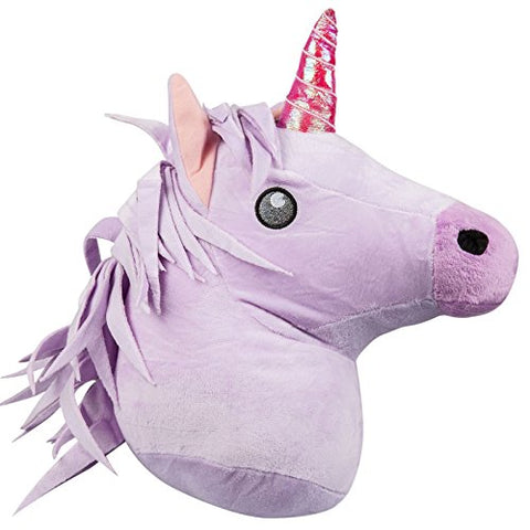 emoji® Unicorn emoji Brand Cushion - Super Soft, Super Cuddly Pillow. This is a large emoji or emoticon pillow from emoji®