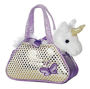 Unicorn butterfly pet carrier with bag and soft unicorn toy