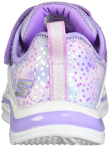 Skechers Dreams Unicorn Wishes Girls Rip Tape Trainers Lavender Multi