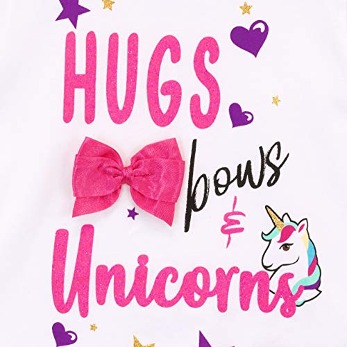 Jo Jo Siwa Bows Unicorn Girls T-Shirt Top