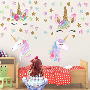 Unicorn Wall Sticker | for Girls Kids Bedroom Nursery
