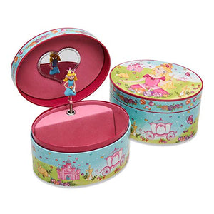 Oval Lucy Locket Princess Unicorn Jewellery Box for Girls