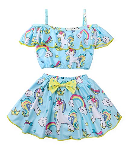 Rainbow unicorn swimming costume kids