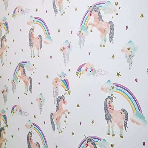Unicorn Wallpaper- Arthouse Rainbow Unicorn