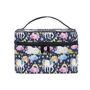 Unicorn Rainbow Star Cosmetic Toiletry Bag | Make Up Bag