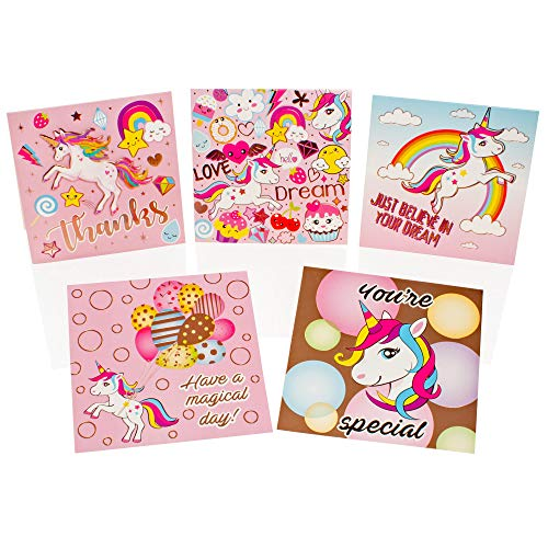 Unicorn Craft Set - Card Making Stationery Set - Arts and Crafts Sets For Kids - Gifts For Girls