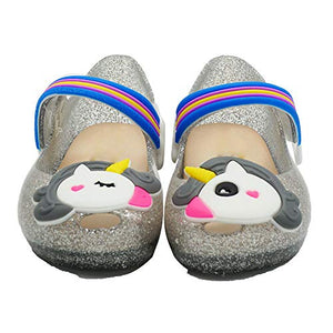 Unicorn Silver Glitter Jellies Girls