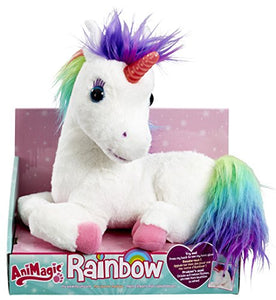 Animagic rainbow unicorn interactive toy