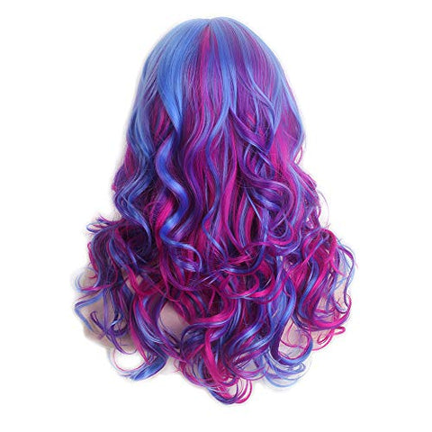 Unicorn Wig | Anime Cosplay | Fancy Dress | Two Tone Blue Purple Ombre