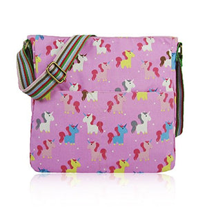 Unicorn Print Cross Body Messenger Bag