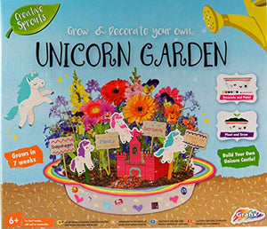 Creative Sprouts Paint and Grow Your Own Unicorn Garden, White