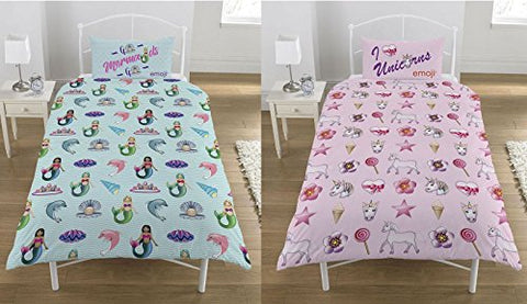 Mermaids & Unicorns Print Duvet Set | Single 135 X 200 CM
