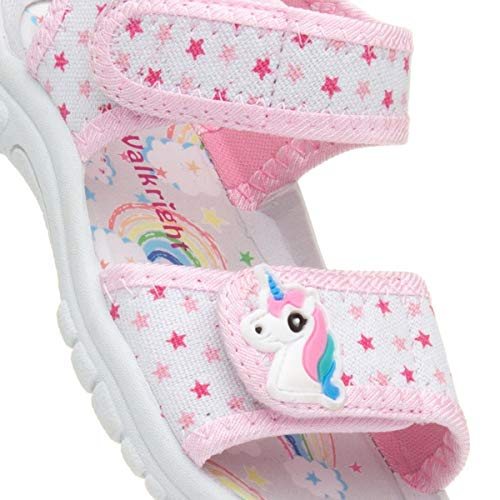 Girls unicorn stars velcro sandals