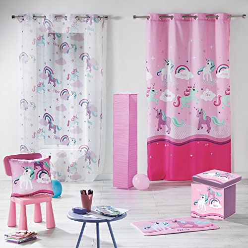Unicorn Print Eyelet Curtains 140 X 240 Cm Buy Online All