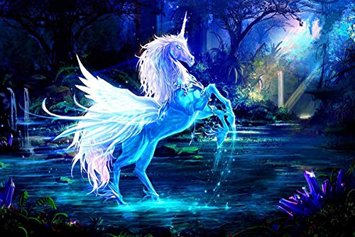 Moonlight unicorn puzzle for adults and children