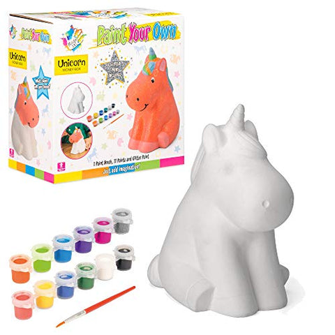paint your own unicorn money box craft